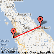 Kota Bharu (Sultan Ismail Petra, KBR) - Penang (Penang International, PEN)