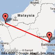 Kuching (KCH) - Balikpapan (Sepingan, BPN)