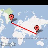 Reykjavik (Keflavik International, KEF) - Hong Kong (Hong Kong International, HKG)