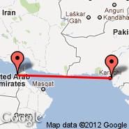 Karachi (Quaid-e-azam Intl, KHI) - Dubai (Dubai International Airport, DXB)