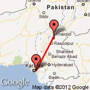 Karachi (Quaid-e-azam Intl, KHI) - Sukkur (SKZ)