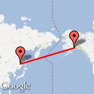 Khabarovsk (Novyy, KHV) - Anchorage (Ted Stevens Anchorage International Airport, ANC)