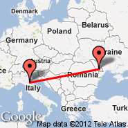 Kišinjev (International Airport Chisinau, KIV) - Bologna (Guglielmo Marconi, BLQ)
