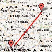 Klagenfurt (Alpe Adria, KLU) - Katowice (Pyrzowice, KTW)