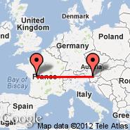 Klagenfurt (Alpe Adria, KLU) - Poitiers (Biard, PIS)
