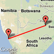 Kleinzee (KLZ) - Johannesburg (Oliver Reginald Tambo International, JNB)