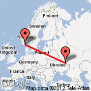 Kristiansand (Kjevik, KRS) - Belgorod (EGO)