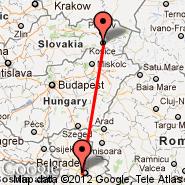 Košice (Barca, KSC) - Beograd (Nikola Tesla, BEG)