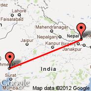 Kathmandu (Tribhuvan, KTM) - Ahmedabad (Sardar Vallabhbhai Patel International Airport, AMD)