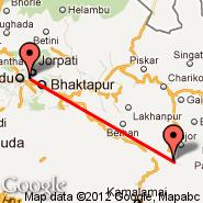 Kathmandu (Tribhuvan, KTM) - Ramechap (Ramechhap, RHP)
