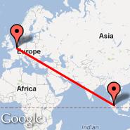 Kuala Lumpur (Kuala Lumpur International Airport, KUL) - Antwerp (Deurne, ANR)