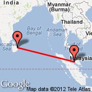 Kuala Lumpur (Kuala Lumpur International Airport, KUL) - Batticaloa (BTC)