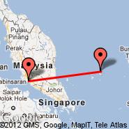 Kuala Lumpur (Kuala Lumpur International Airport, KUL) - Matak (Tarempa, MWK)
