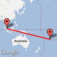 Kuala Lumpur (Kuala Lumpur International Airport, KUL) - Rarotonga (Rarotonga International Airport, RAR)
