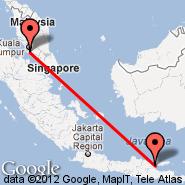 Kuala Lumpur (Kuala Lumpur International Airport, KUL) - Surabaya (Juanda, SUB)
