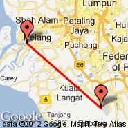 Kuala Lumpur (Kuala Lumpur International Airport, KUL) - Port Klang (Ferry, XPQ)