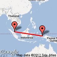 Kuala Lumpur (Kuala Lumpur International Airport, KUL) - Steenkool (ZKL)