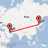 Kuvajt (Kuwait International, KWI) - Harbin (Taiping International Airport, HRB)