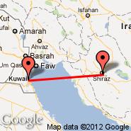 Kuwait (Kuwait International, KWI) - Shiraz (International (Shahid Dastghaib International), SYZ)