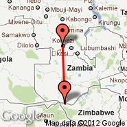 Kolwezi (KWZ) - Livingstone (LVI)