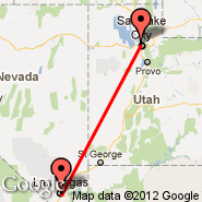 Las Vegas (Mc Carran Intl, LAS) - Salt Lake City (Salt Lake City International, SLC)