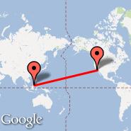 Los Angeles (Los Angeles International, LAX) - Kota Kinabalu (Kota-Kinabalu International Airport, BKI)