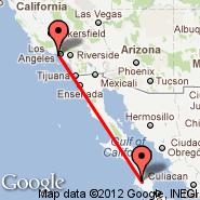 Los Angeles (Los Angeles International, LAX) - Ciudad Constitucion (CUA)