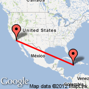 Los Angeles (Los Angeles International, LAX) - Kingston (Norman Manley, KIN)