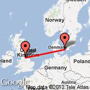 Leeds/Bradford (Leeds Bradford International Airport, LBA) - Kopenhagen (Kastrup, CPH)