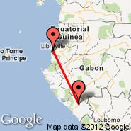 Libreville (LBV) - Tchibanga (TCH)