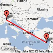 Larnaca (LCA) - Milan (Metropolitan Area, MIL)
