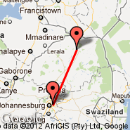 Louis Trichardt (LCD) - Johannesburg (Oliver Reginald Tambo International, JNB)