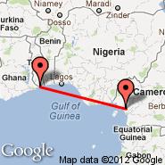 Lome (Tokoin (Gnassingb, LFW) - Douala (DLA)