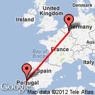 Liege (Liege Airport, LGG) - Lisabon (Portela, LIS)