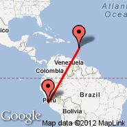 Lima (Jorge Chavez International, LIM) - Dominica (Melville Hall, DOM)