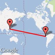 Lima (Jorge Chavez International, LIM) - Hong Kong (Hong Kong International, HKG)