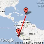 Lima (Jorge Chavez International, LIM) - San Juan (Luis Munoz Marin Intl, SJU)