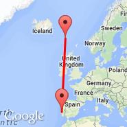 Lisbona (Portela, LIS) - Faroer/Isole (Vagar, FAE)