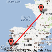 Lizbona (Portela, LIS) - Poitiers (Biard, PIS)