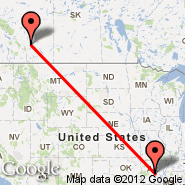 Little Rock (Adams Field Airport, LIT) - Calgary (Calgary International Airport, YYC)