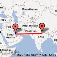 Lucknow (Amausi, LKO) - Bahrein (Bahrain International, BAH)