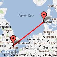 London (Metropolitan Area, LON) - Esbjerg (EBJ)