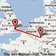 London (Metropolitan Area, LON) - Hahn (Frankfurt-Hahn, HHN)