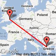 London (Metropolitan Area, LON) - Kastoria (Aristoteles Airport, KSO)
