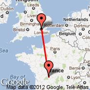 London (Metropolitan Area, LON) - Limoges (Bellegarde, LIG)