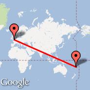 London (Metropolitan Area, LON) - Suva (Nausori, SUV)