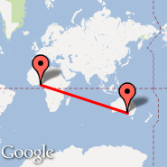 Lagos (Murtala Muhammed, LOS) - Adelaide (Adelaide International Airport, ADL)