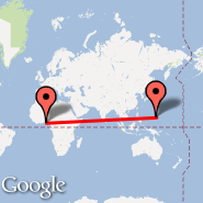 Lagos (Murtala Muhammed, LOS) - Guam (Guam International, GUM)