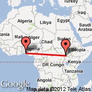 Lagos (Murtala Muhammed, LOS) - Juba (JUB)