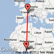 Lagos (Murtala Muhammed, LOS) - Lyon (Bron, LYN)